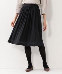 <closet story> □エスパンディ ギャザースカート -手洗い可能-
