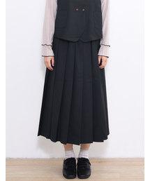 POU DOU DOU(プードゥドゥ)のエステルレーヨンプリーツスカート(スカート)