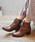 MODE KAORI(モードカオリ)の「レースアップショートブーツ(ブーツ)」 詳細画像