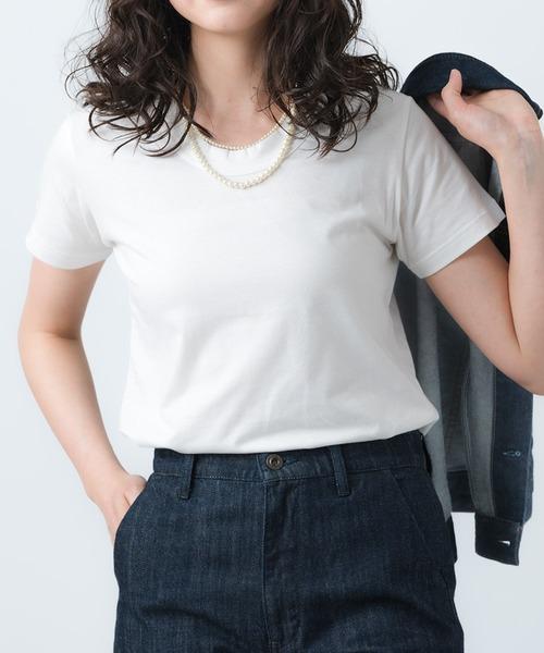 【GRANDMA MAMA DAUGHTER/グランマ ママ ドーター】# CREW NECK T SHIRT クルーネックTシャツ GC080A