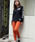 AVIREX(アヴィレックス)の「avirex/ アヴィレックス/ L-SATIN STRETCH SIDE ZIP SKINNY PANTS/ サテンストレッチ サイドジップ スキニーパンツ(カーゴパンツ)」|オレンジ
