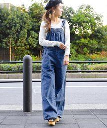 Fashion Letter(ファッションレター)のデニムサロペット オーバーオール(サロペット/オーバーオール)
