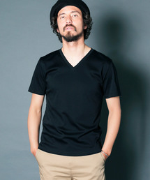 Magine(マージン)のSUPIMA SILKET CTN BASIC V/N TEE S/S:スーピマシルケットコットンベーシックVネック半袖Tシャツ(Tシャツ/カットソー)