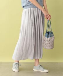 MACKINTOSH PHILOSOPHY(マッキントッシュ フィロソフィー)のヴィンテージサテンギャザースカート(スカート)
