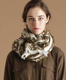 MELROSE claire(メルローズ クレール)の変り織りフリンジ付きストール(ストール/スヌード)