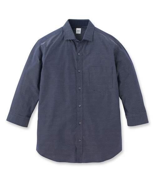 ステッチボーダー7分袖シャツ [ メンズ シャツ 7分袖 ]