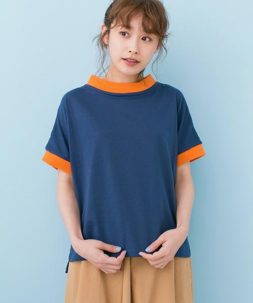 PBP 高橋愛さんコラボ 手描きハート刺しゅうがかわいいコットンリンガーTシャツ