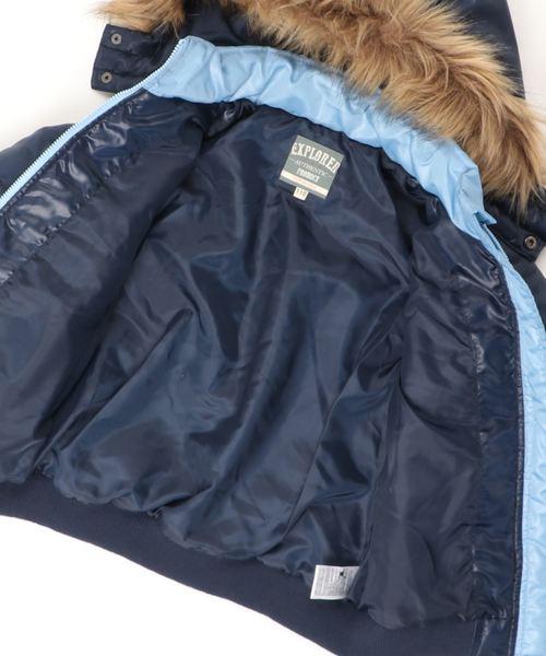 ボーイズ ワッペンワンポイント 切替配色 フード付 ジャケット 全3柄