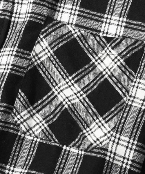 【BASQUE -enthusiastic design-】オーバーサイズレギュラーカラーチェックシャツ