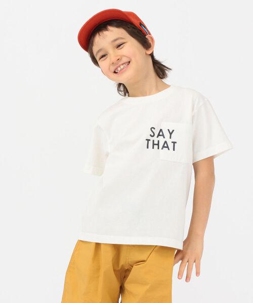 ARCH&LINE(アーチアンドライン)の「【SHIPS KIDS別注】ARCH&LINE:TAKE IT EASY 刺繍 TEE(110~145cm)(Tシャツ/カットソー)」|ホワイト