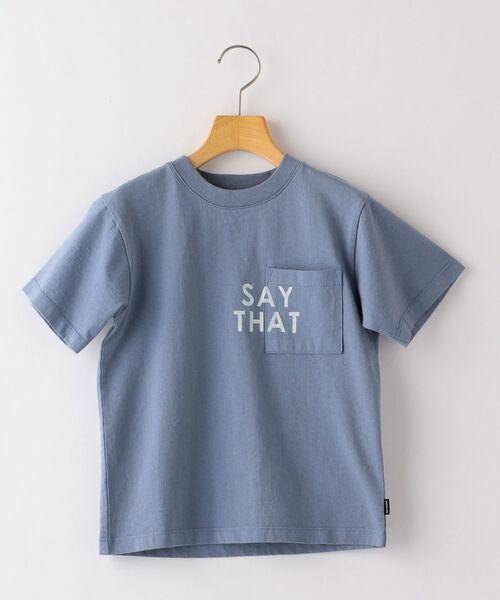 ARCH&LINE(アーチアンドライン)の「【SHIPS KIDS別注】ARCH&LINE:TAKE IT EASY 刺繍 TEE(110~145cm)(Tシャツ/カットソー)」|ライトブルー