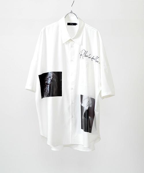 UP START(アップスタート)の「特殊転写プリントスーパービッグシャツ(シャツ/ブラウス)」|ホワイト