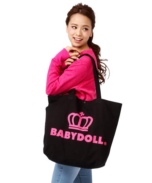 BABYDOLL(ベビードール)の「通販限定★大容量!マザーズバッグにも使える♪王冠ロゴトートバッグ/Lサイズ7312(トートバッグ)」 その他6