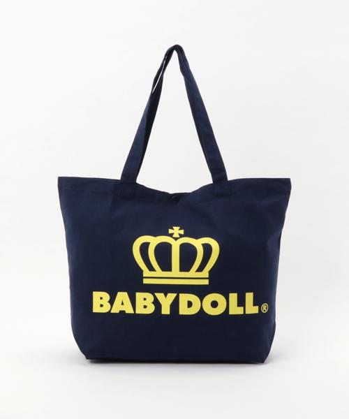 BABYDOLL(ベビードール)の「通販限定★大容量!マザーズバッグにも使える♪王冠ロゴトートバッグ/Lサイズ7312(トートバッグ)」 ネイビー