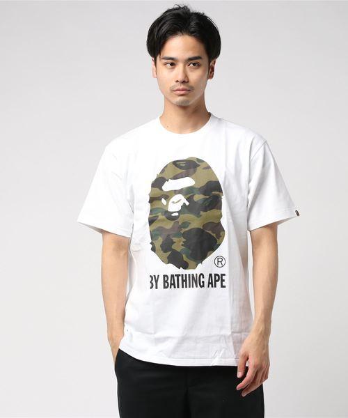 A BATHING APE(アベイシングエイプ)の「1ST CAMO BY BATHING TEE M(Tシャツ/カットソー)」|ホワイト×グリーン