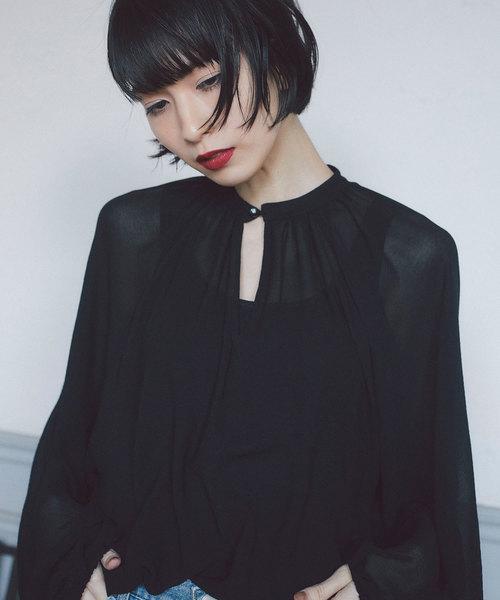 【Nora Lily】ボリュームシアーブラウス