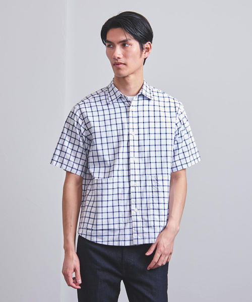 <BACKROOM(バックルーム)> ビッグポケット レギュラー シャツ