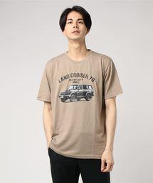 OUTDOOR PRODUCTS × ランドクルーザーTシャツ/コラボ/ブランドロゴベージュ