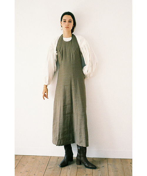最新入荷 HALTER LINEN LINEN LONG LONG ONE PIECE(ワンピース) ONE|CLANE(クラネ)のファッション通販, 川井村:db0a9436 --- ulasuga-guggen.de