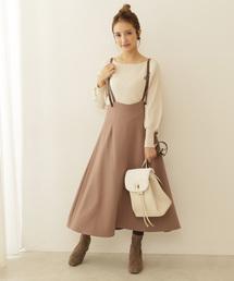 PROPORTION BODY DRESSING(プロポーションボディドレッシング)のバックリボンジャンパースカート(ジャンパースカート)
