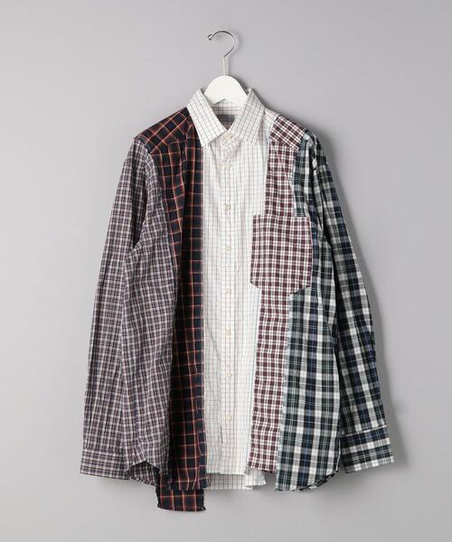 <kolor/BEACON(カラー・ビーコン)>パッチワークシャツ■■■