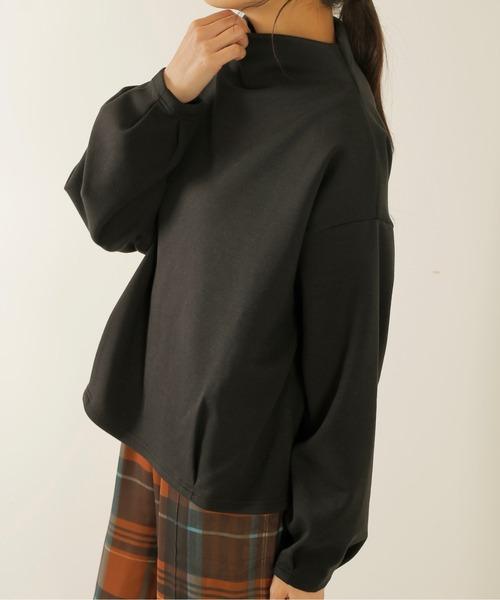 Kelen(ケレン)の「「KELEN / ケレン」モックネックポンチトップス'Vall'(Tシャツ/カットソー)」|ブラック