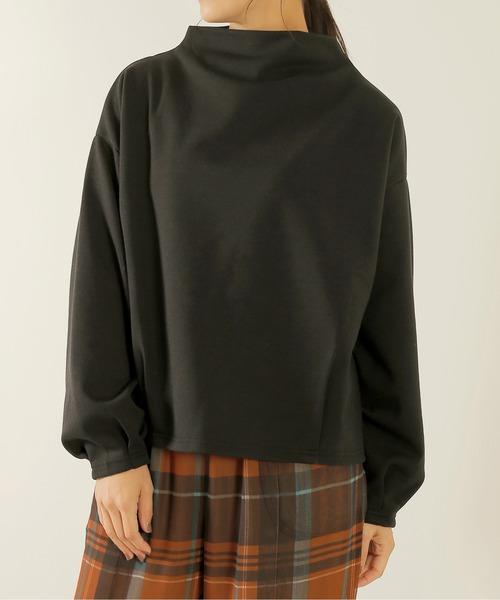 Kelen(ケレン)の「「KELEN / ケレン」モックネックポンチトップス'Vall'(Tシャツ/カットソー)」|詳細画像