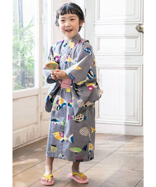 Kraso(クラソ)の「京都Subikiawa食器店さんとつくった レトロな浴衣(浴衣)」|グレー系その他