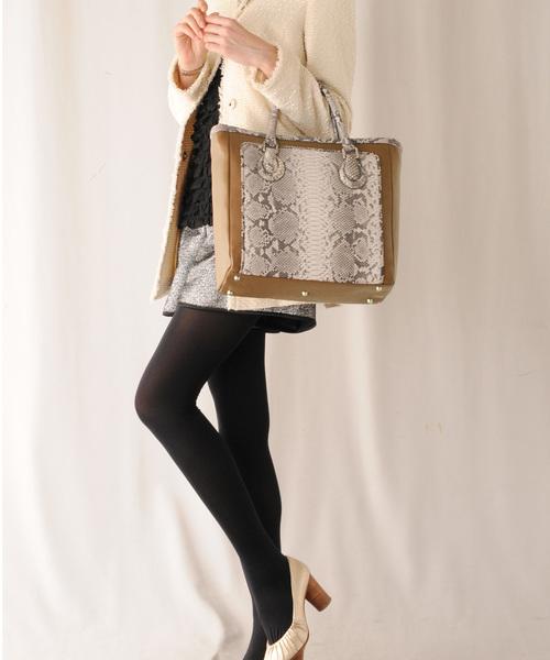 店舗良い ダイヤモンドパイソン&牛革レザートートバッグ(トートバッグ)|HALEINE(アレンヌ)のファッション通販, GUZZLE HARAJUKU:8a079572 --- pyme.pe
