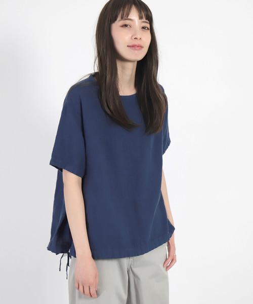 [D.M.G / ディーエムジー] リネンライトキャンバス POシャツ