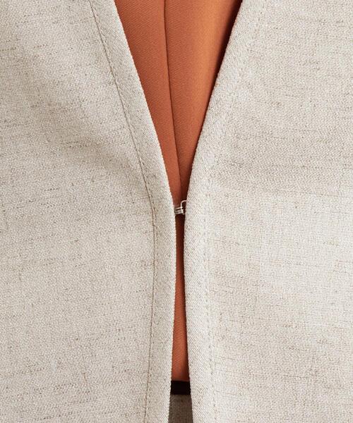 [麻調合繊] ◆D ノーラペル ジャケット