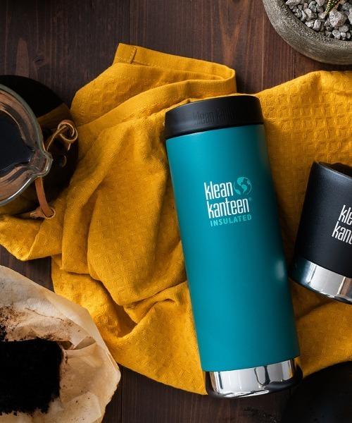 Klean Kanteen(クリーンカンティーン)の「Klean Kanteen クリーンカンティーン インスレート TKWide 16oz (473ml)カフェキャップ(グラス/マグカップ/タンブラー)」|エメラルド