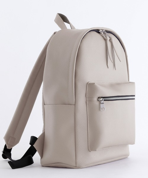 BASIC NEOLEATHER BACKPACK/PVCレザーバッグパック