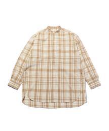 <ANEI> LONG CHECK SHIRT/ロングシャツ