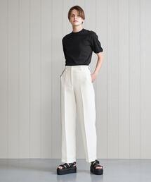<H>TAPERED PANTS WHITE/パンツ