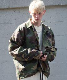 AIVER(アイバー)のCASPER JOHN AIVER オーバーサイズミリタリーシャツジャケット(ミリタリージャケット)