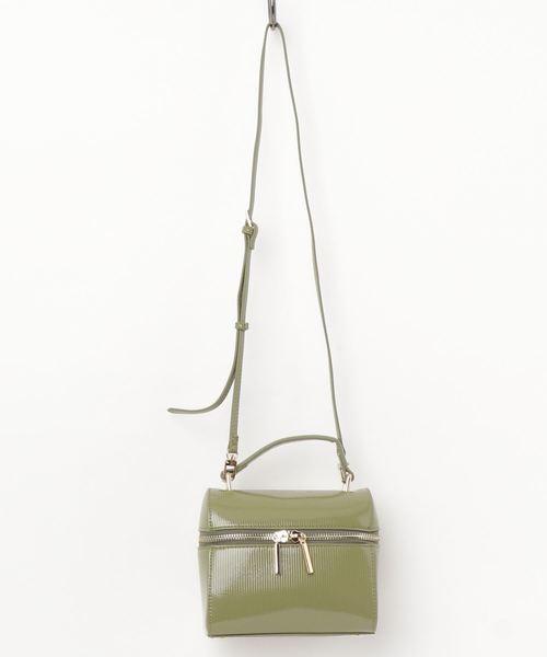 Casselini / エナメルラウンドバッグ