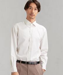 [アルビニ] ALBINI シャンブレー ショートワイドカラー ドレスシャツ