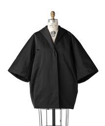 Drawer ブラックサテンパディングコート