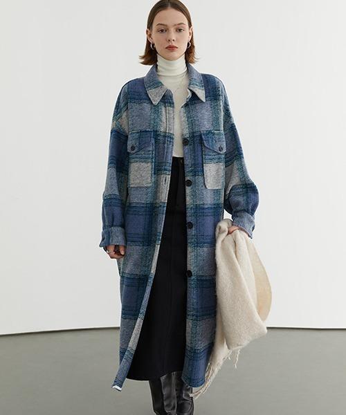 【Fano Studios】Shadow check wool shirt coat FD20W167