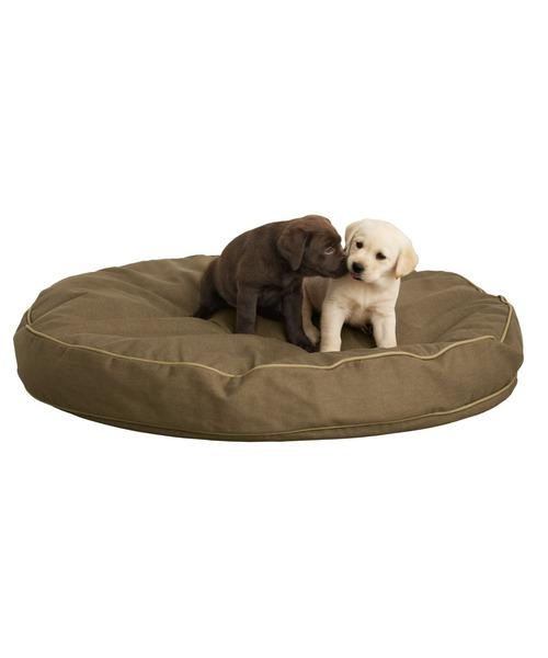 プレミアム·デニム·ドッグ·ベッド、円形 スモール
