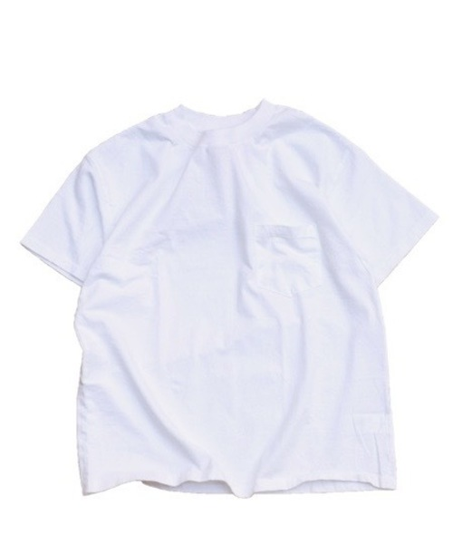 TOWNCRAFT(タウンクラフト)の「TOWN CRAFT/タウンクラフト PACK POCKET TEE(Tシャツ/カットソー)」|ホワイト