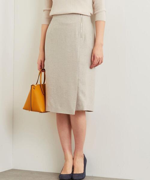 [麻調合繊] ◆D タイト スカート