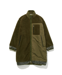 FALL2019 FLEECE COATカーキ