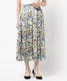 un dix cors(アンディコール)の割繊フラワーギャザースカート(スカート)