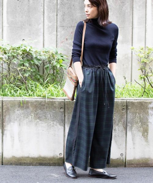 【内祝い】 LaSRIC/タータンチェックワイドPT(デニムパンツ)|miniyu(ミニュウ)のファッション通販, 銀座あけぼの:e3a25415 --- rise-of-the-knights.de