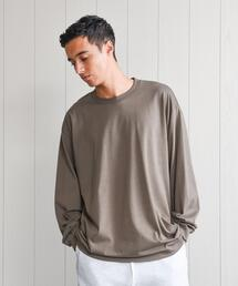 <H>COTTON CREW NECK LONG SLEEVE T-SHIRT/Tシャツ.