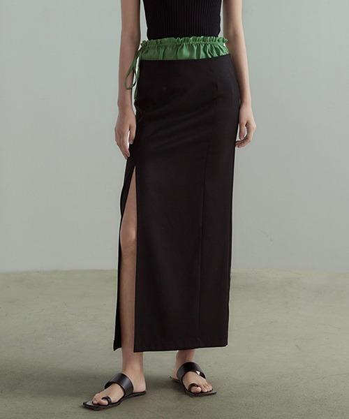 【UNSPOKEN】Slit tight skirt UX21B002