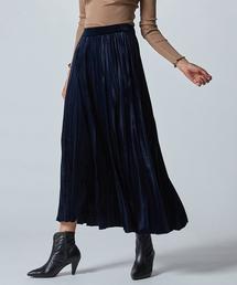 DOUBLE STANDARD CLOTHING(ダブルスタンダードクロージング)のSov. ベロアスムースプリーツスカート(スカート)