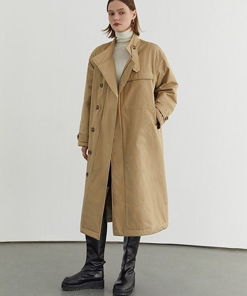 【Fano Studios】【2021AW】Stand collar boa zip trench coat FD20W170